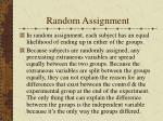 random assignment