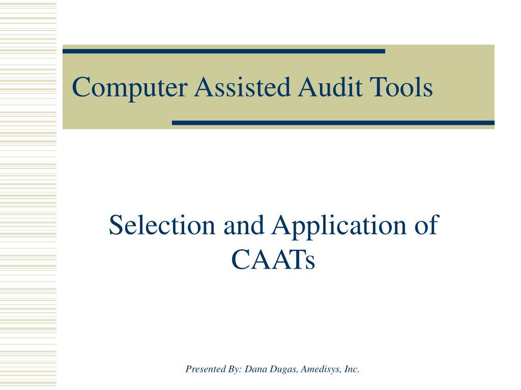 computer assisted audit tools l.