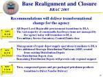 base realignment and closure brac 2005