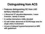 distinguishing from acs