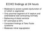 echo findings at 24 hours