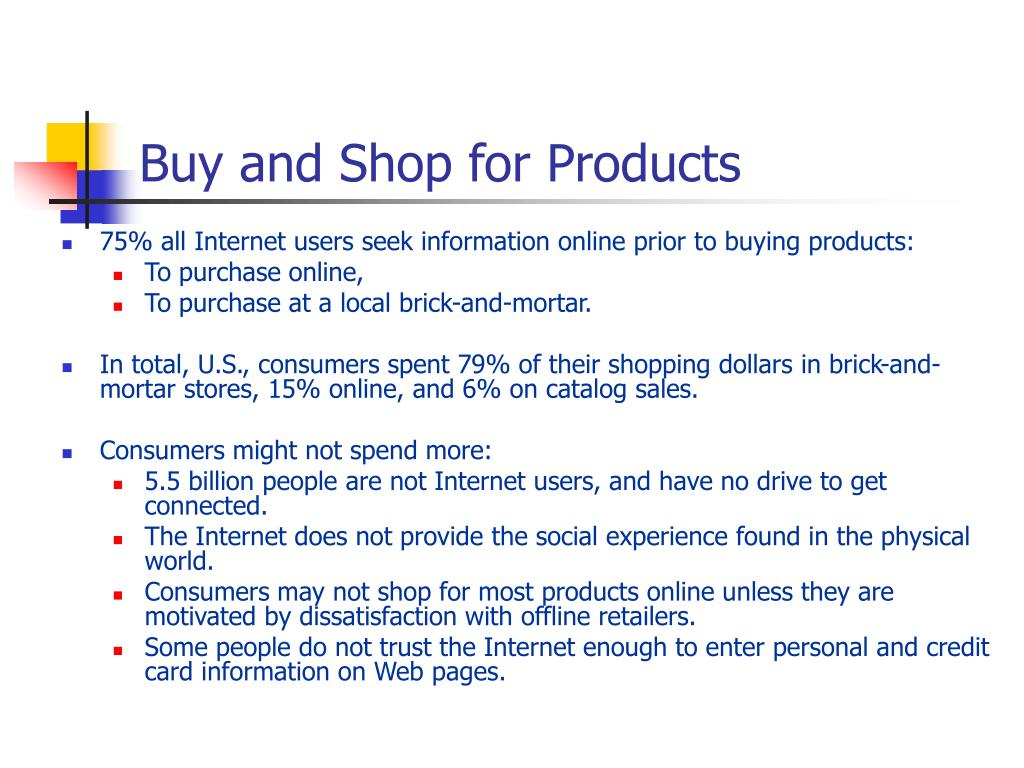 Buy and Shop for Products