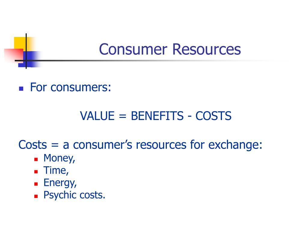 Consumer Resources
