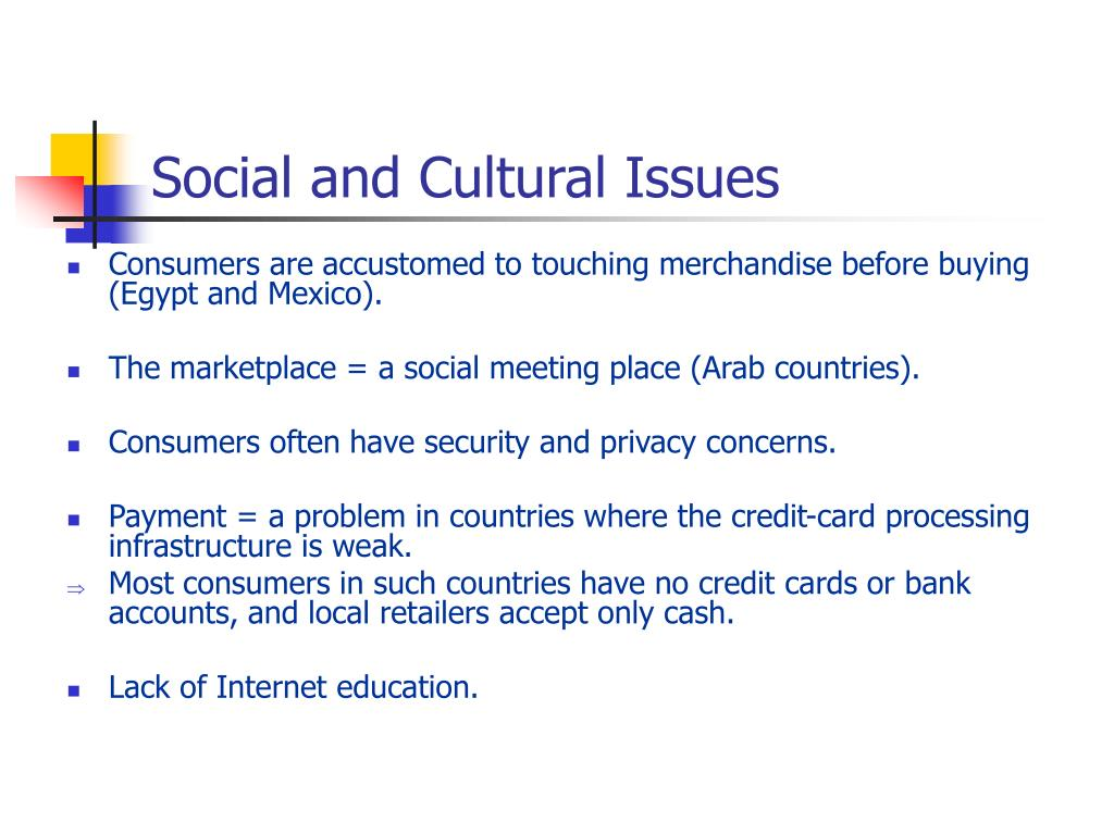 Social and Cultural Issues
