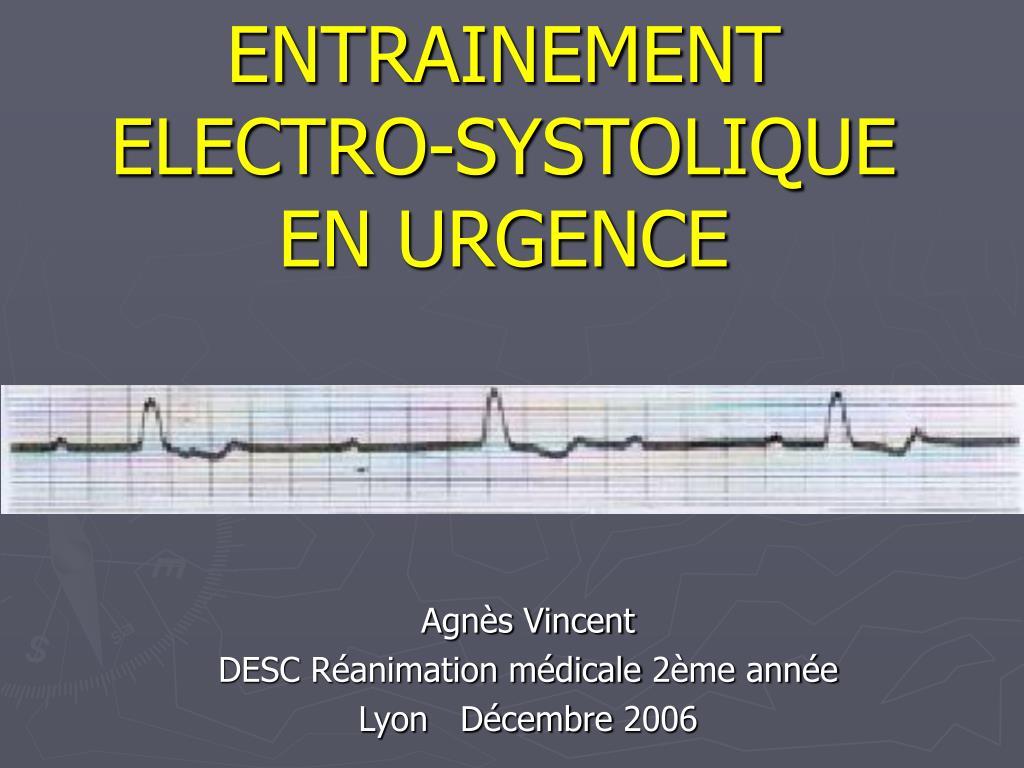 entrainement electro systolique en urgence l.