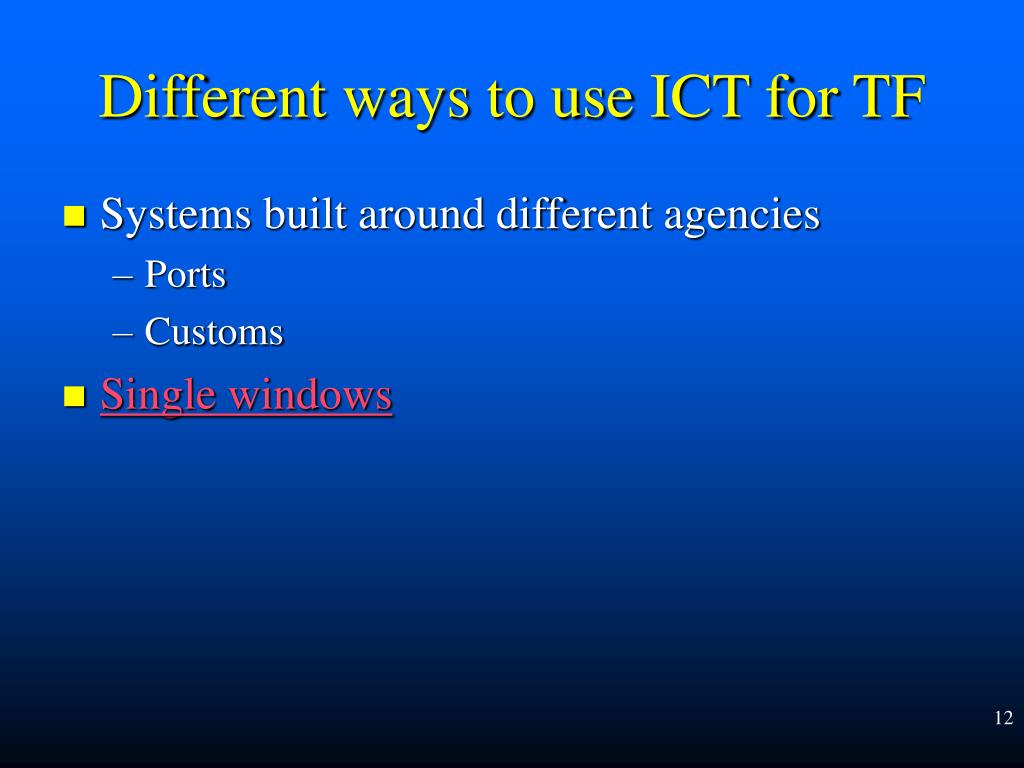 Systems built around different agencies