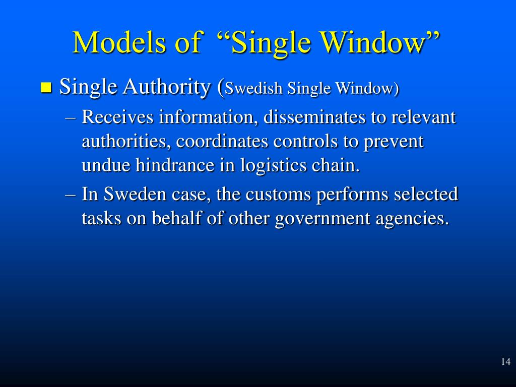 Single Authority (