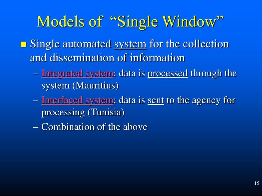 Single automated