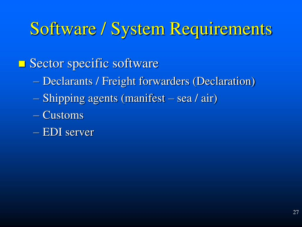 Sector specific software