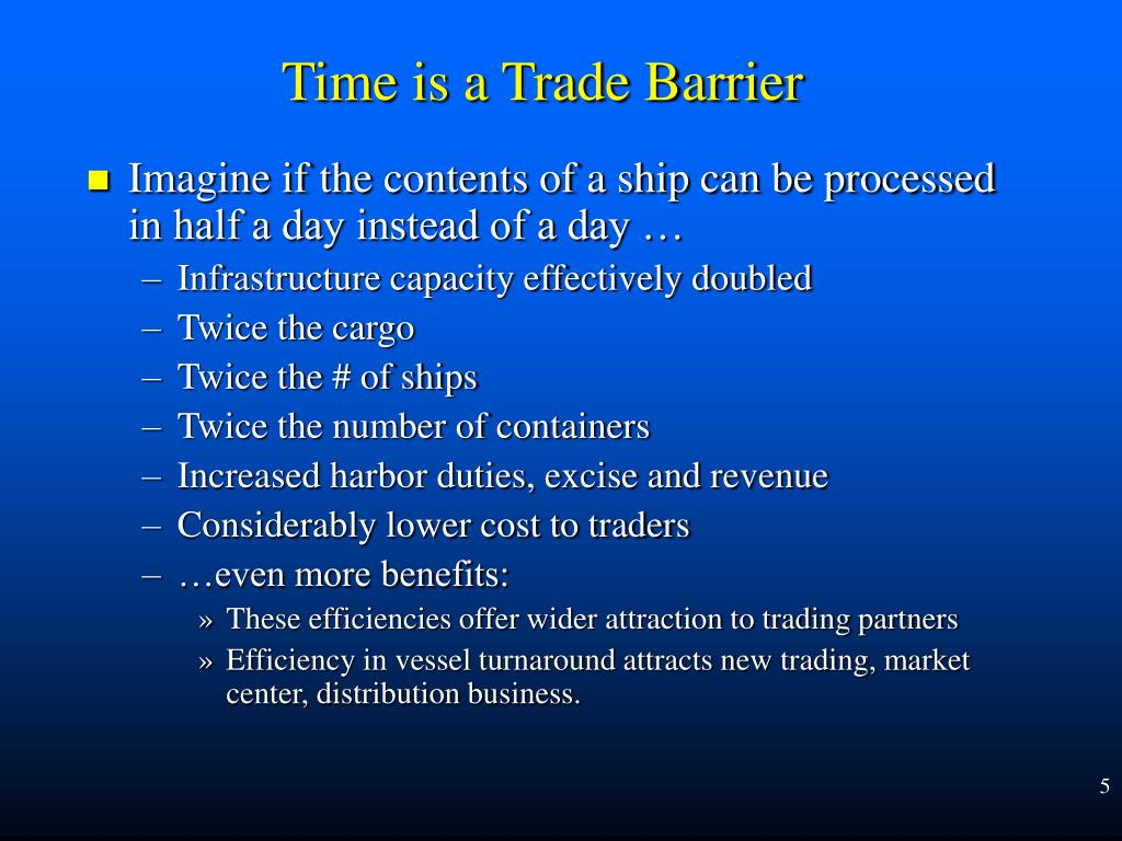 Imagine if the contents of a ship can be processed in half a day instead of a day …