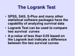 the logrank test