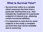 what is survival time