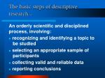 the basic steps of descriptive research