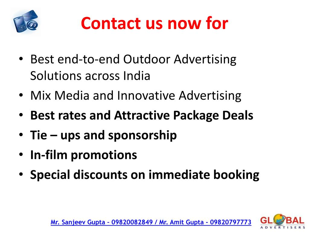 Contact us now for