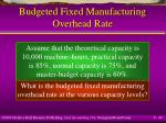 budgeted fixed manufacturing overhead rate49