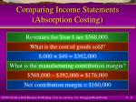 comparing income statements absorption costing11