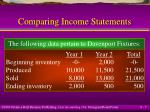 comparing income statements