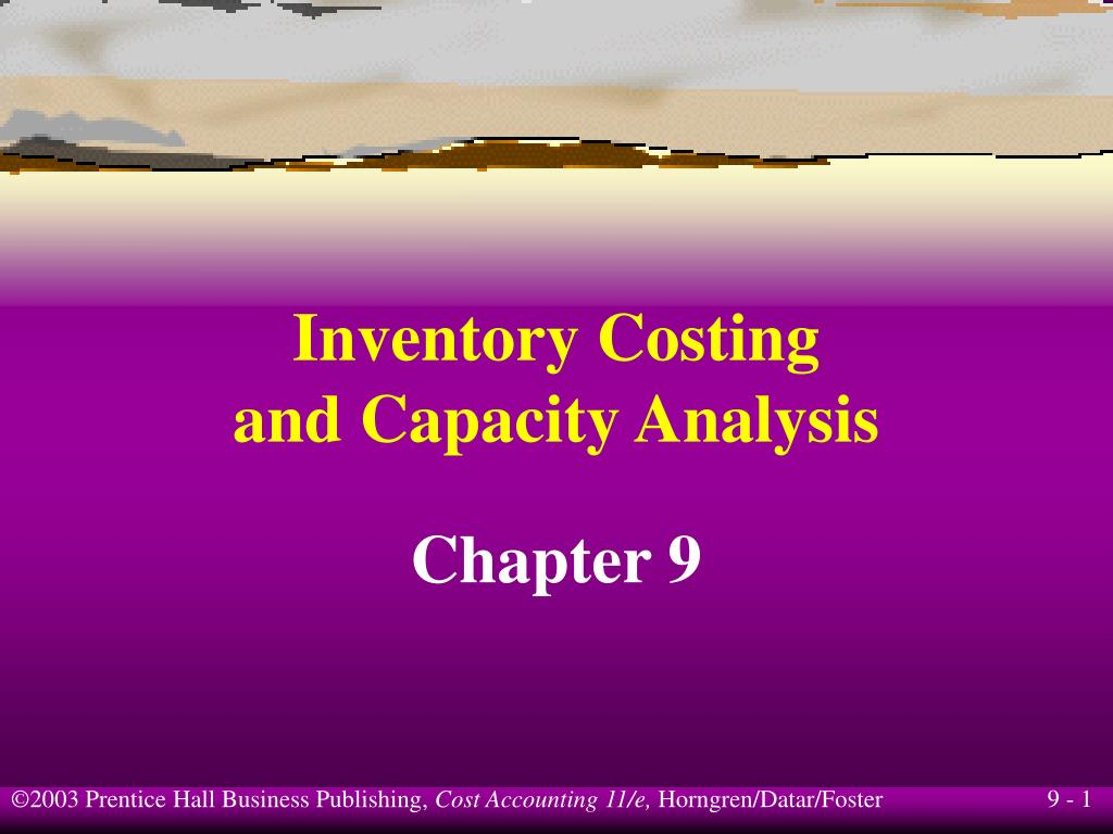 inventory costing and capacity analysis l.