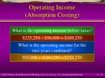 operating income absorption costing16