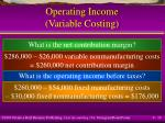 operating income variable costing19
