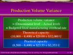 production volume variance