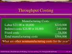throughput costing37