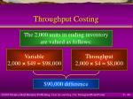 throughput costing40
