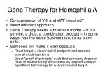 gene therapy for hemophilia a38