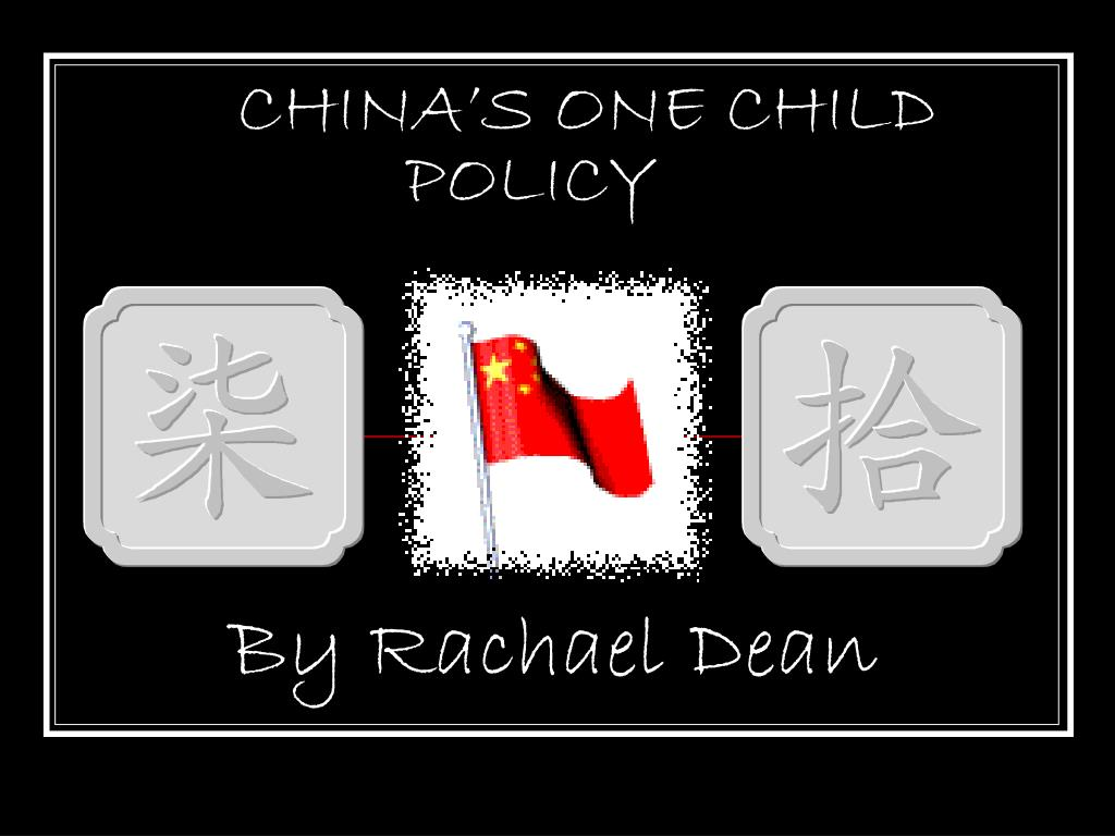 china s one child policy l.