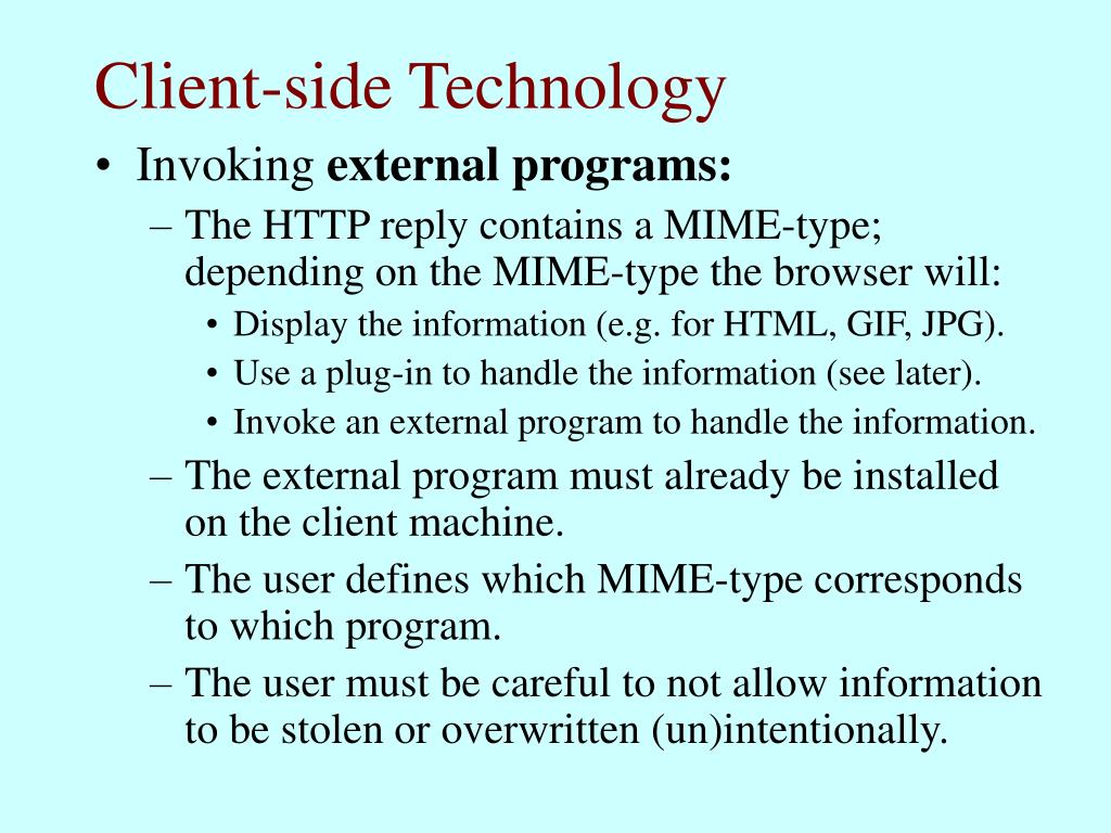 Client-side Technology