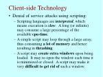 client side technology60