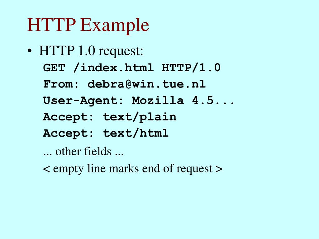 HTTP Example