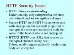 http security issues