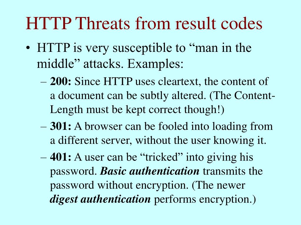 HTTP Threats from result codes