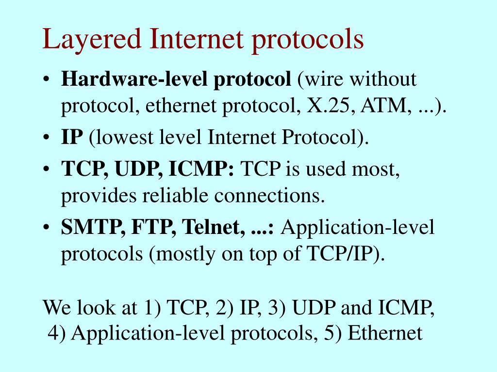 Layered Internet protocols