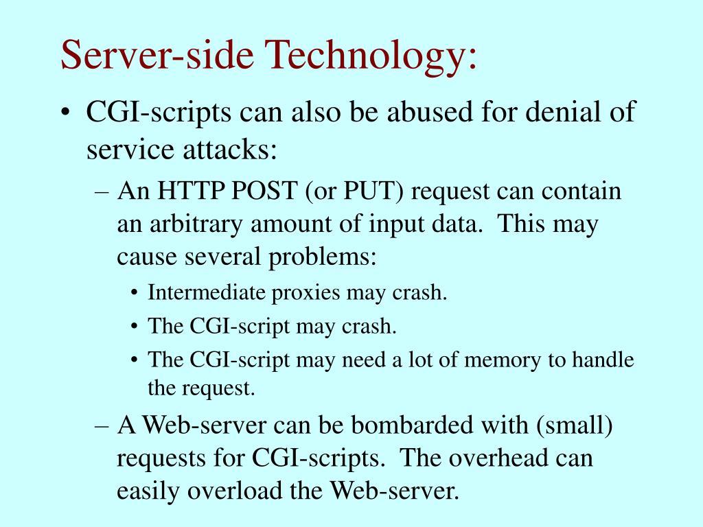Server-side Technology: