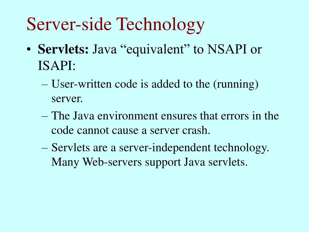 Server-side Technology