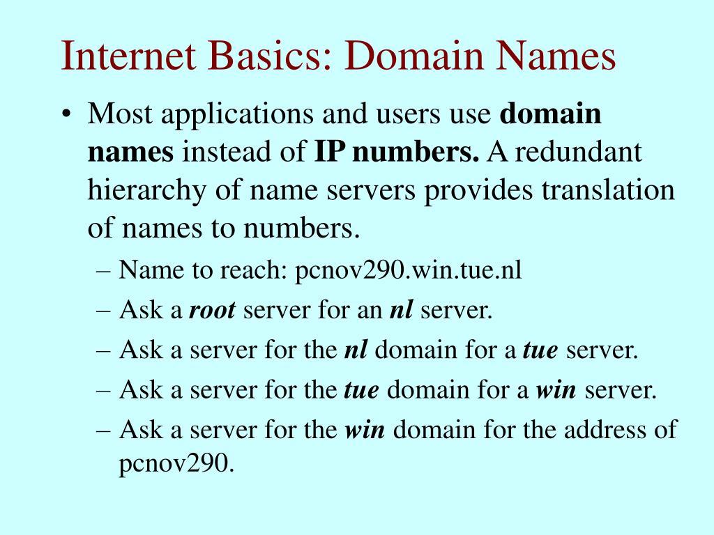 Internet Basics: Domain Names