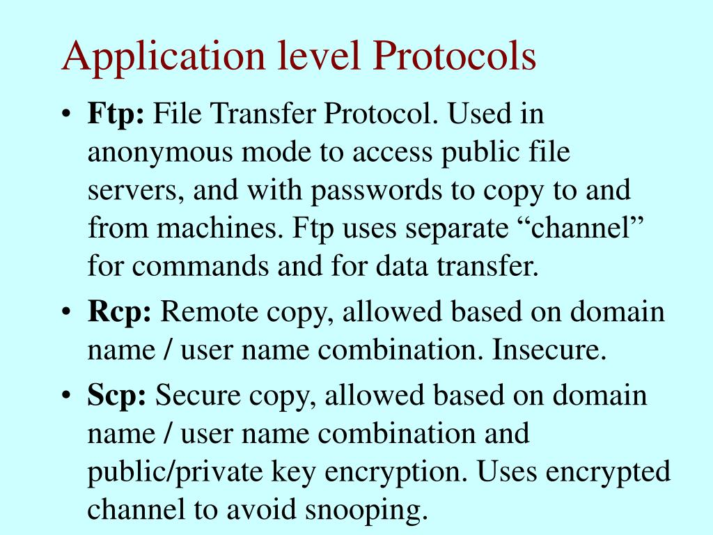 Application level Protocols