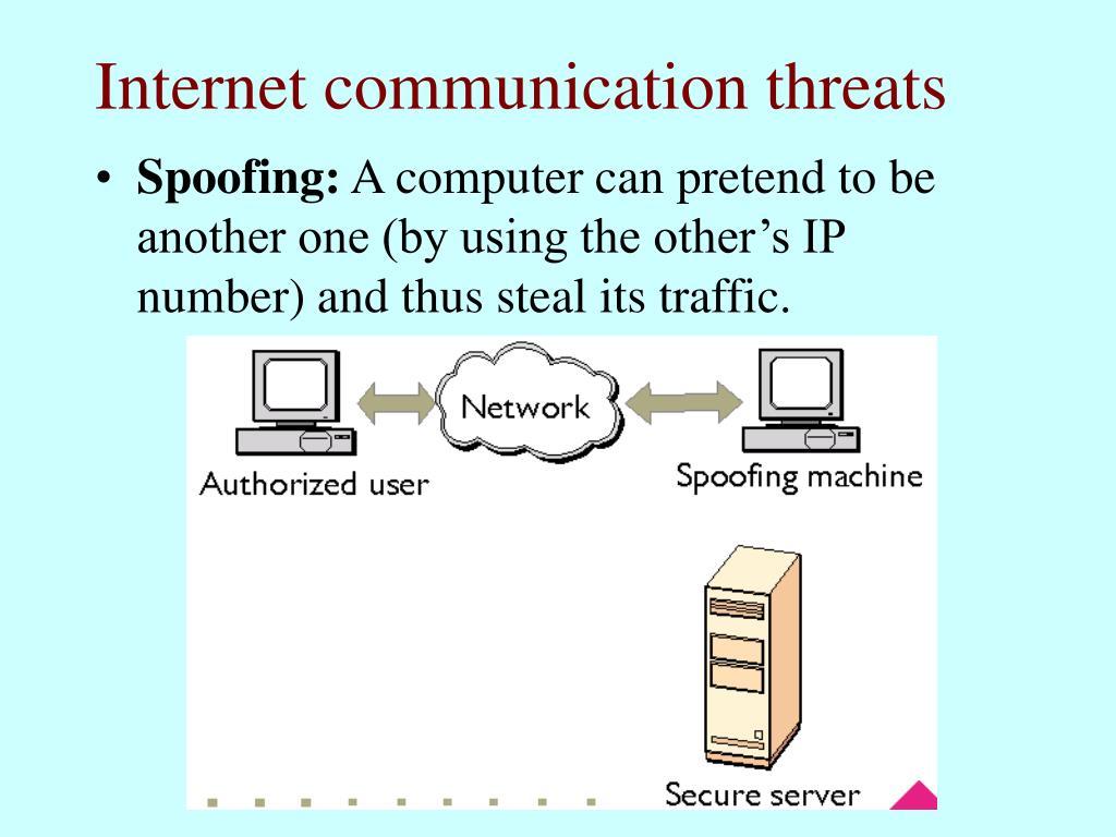 Internet communication threats