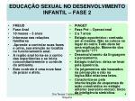educa o sexual no desenvolvimento infantil fase 2