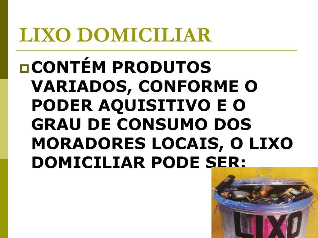 LIXO DOMICILIAR