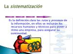 la sistematizaci n