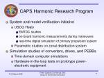 caps harmonic research program17