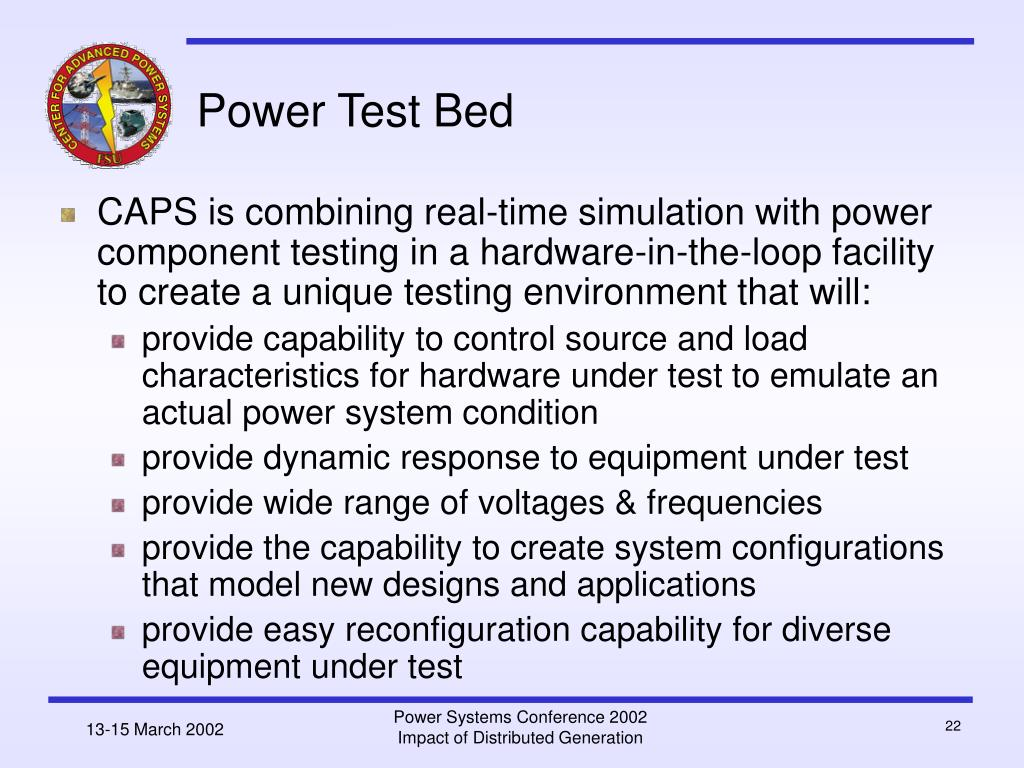 Power Test Bed