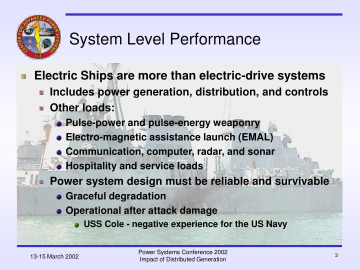System level performance