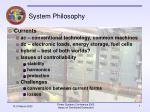 system philosophy