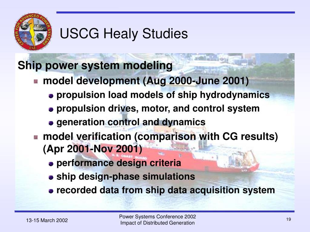 USCG Healy Studies