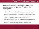 c obi t business benefits