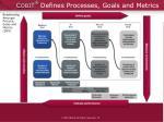 c obi t defines processes goals and metrics